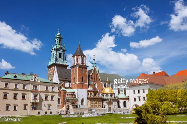wawel cathedral - krakow stock pictures, royalty-free photos & images