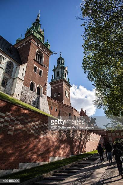 Wawel Royal Castle during sunny day. Krakow, Poland