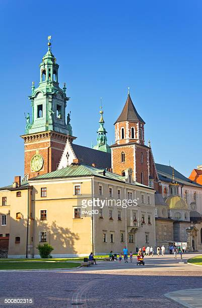 wawel royal castle in cracow, poland - wawel cathedral stock pictures, royalty-free photos & images