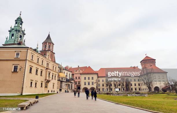 wawel royal castle in krakow, poland - wawel cathedral stock pictures, royalty-free photos & images