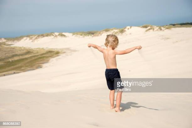 wawes of sand, the largest migrating dune in denmark, rabjerg mile south of skagen town. - coastal feature stock pictures, royalty-free photos & images