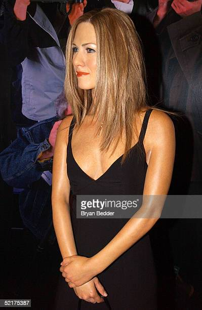 A wax figure of actress Jennifer Aniston is seen after being unveiled at Madame Tussauds on February 10 2005 in New York City