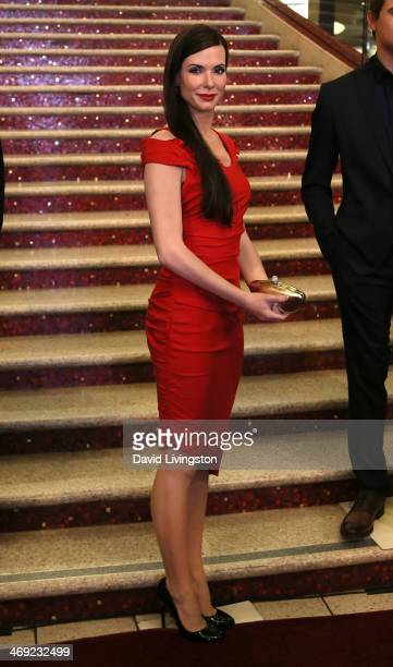 Wax figure of actress Sandra Bullock dressed for the red carpet is unveiled by Madame Tussauds Hollywood at the grand staircase to the Dolby Theatre...