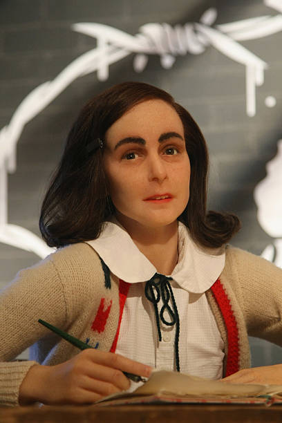 anne frank wax figure at madame tussauds photos and images getty images. Black Bedroom Furniture Sets. Home Design Ideas