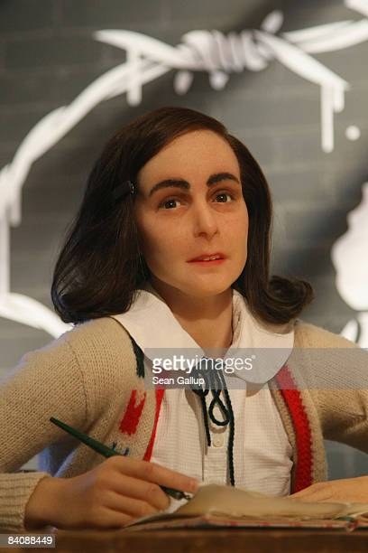 A wax figure of Anne Frank stands on display on its first day for the public at Madame Tussauds on December 19 2008 in Berlin Germany Anne Frank a...