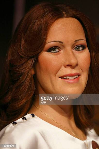 A wax figure of AnniFrid Lyngstad from Swedish pop group Abba is displayed in the attractions interactive Music Zone at Madame Tussauds in London on...