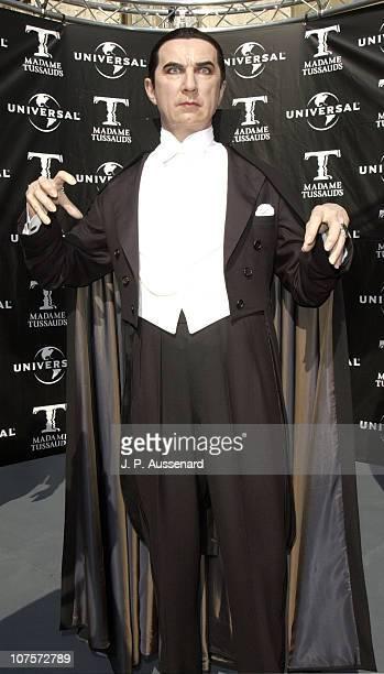 Wax figure of Bela Lugosi as Dracula during Unveiling of Wax Figures in Tribute to Boris Karloff and Bela Lugosi at Universal Studios Hollywood in...
