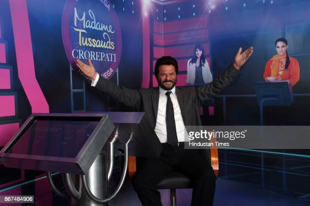 A wax figure of Bollywood actor Anil Kapoor displayed at Madame Tussauds Wax Museum at Connaught Place on October 24 2017 in New Delhi Located in the...