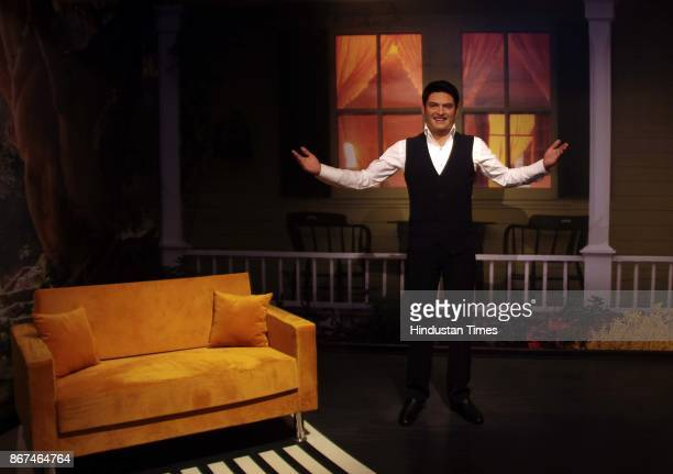 A wax figure of Bollywood actor Kapil Sharma displayed at Madame Tussauds Wax Museum at Connaught Place on October 24 2017 in New Delhi Located in...