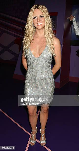 A wax figure of Britney Spears is displayed at Madame Tussauds Hollywood on September 30 2009 in Hollywood California