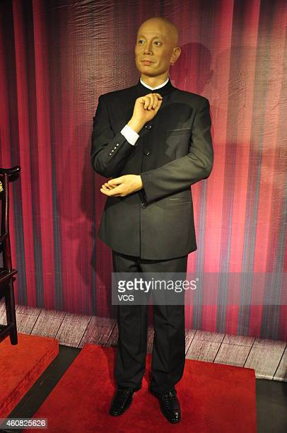A wax figure of Chinese actor Ge You is unveiled at Guidu Century Plaza on December 24 2014 in Taiyuan Shanxi province of China Wax figures of...