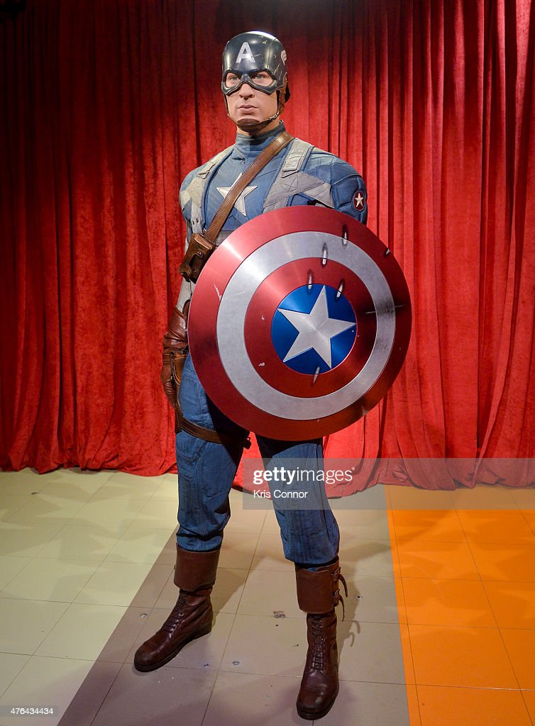 "Chris Evan's ""Captain America"" Madame Tussauds Wax Figure Unveiling : News Photo"