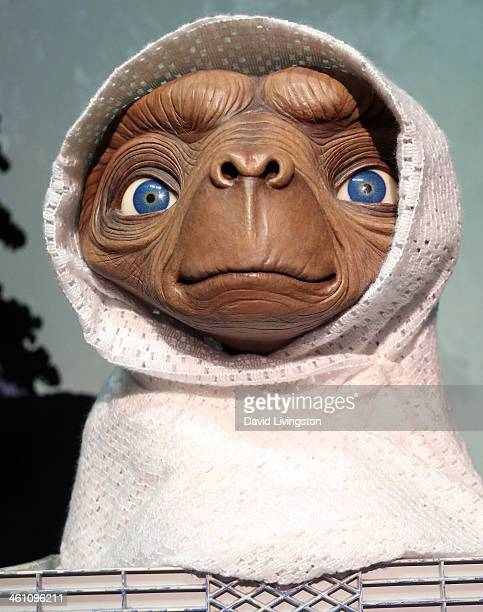 A wax figure of ET the ExtraTerrestrial is displayed at Madame Tussauds on January 6 2014 in Hollywood California