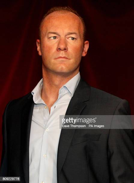 A wax figure of former England footballer Alan Shearer at Madame Tussauds in Blackpool