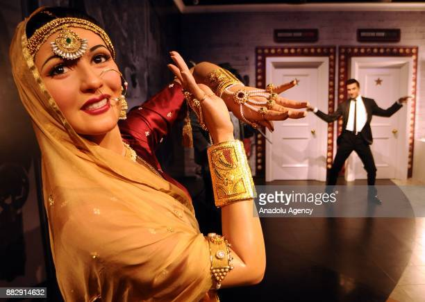 A wax figure of Former Indian Bollywood actor Madhubala is seen during the press preview of the Madame Tussauds Wax Museum in New Delhi India on...