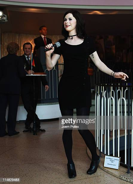 A wax figure of German singer Lena MeyerLandrut who rose to fame by winning the Eurovision Song Contest in 2010 is pictured at the Panoptikum wax...