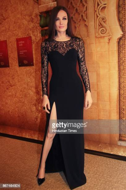 A wax figure of Hollywood actor Angelina Jolie displayed at Madame Tussauds Wax Museum at Connaught Place on October 24 2017 in New Delhi Located in...