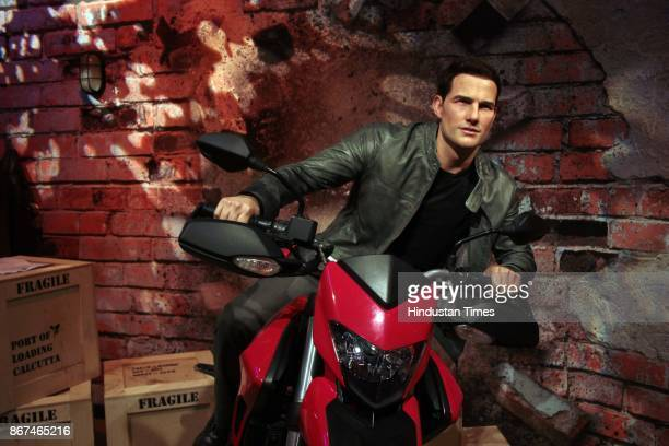 A wax figure of Hollywood actor Tom Cruise displayed at Madame Tussauds Wax Museum at Connaught Place on October 24 2017 in New Delhi Located in the...