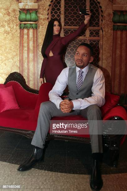 A wax figure of Hollywood actor Will Smith displayed at Madame Tussauds Wax Museum at Connaught Place on October 24 2017 in New Delhi Located in the...