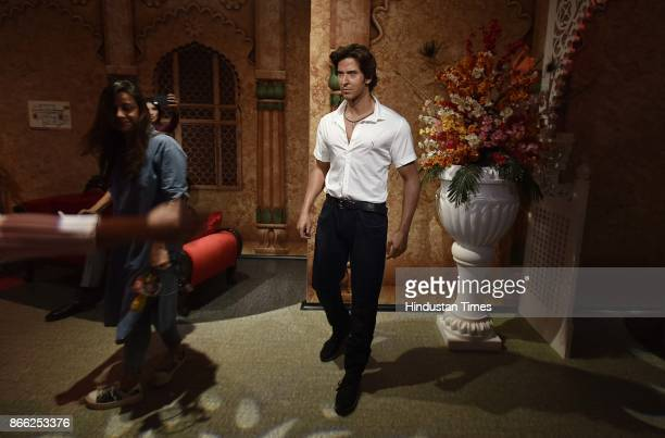 Wax figure of Indian actor Hrithik Roshan displayed at Madame Tussauds Museum situated in Regal Cinema building during its Press preview on October...