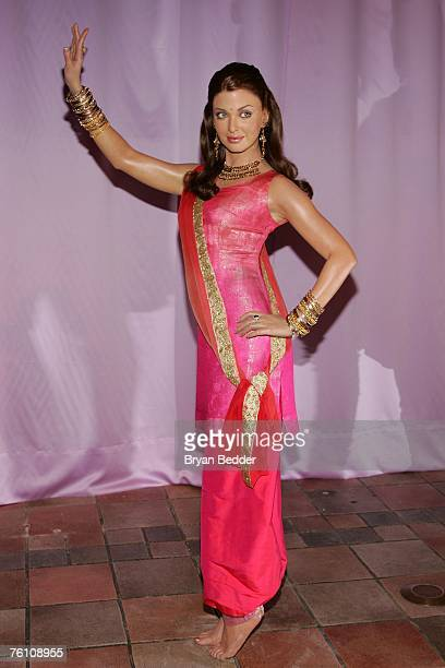 A wax figure of Indian actress Aishwarya Rai debuts at Madame Tussauds in Times Square on August 15 2007 in New York City