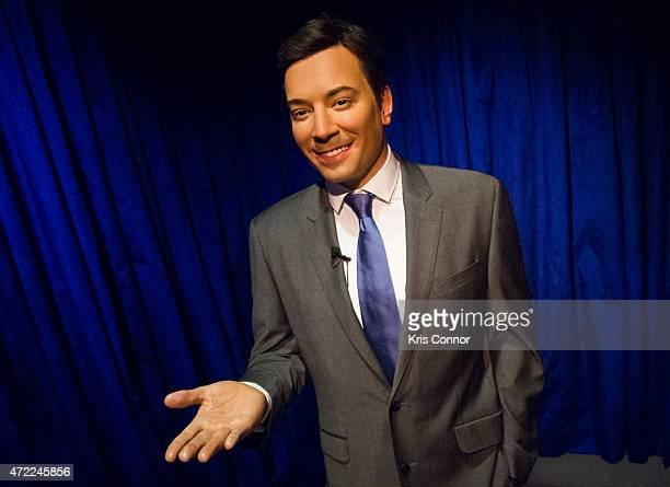 A wax figure of Jimmy Fallon is seen at Madame Tussauds Washington DC on May 5 2015 in Washington DC