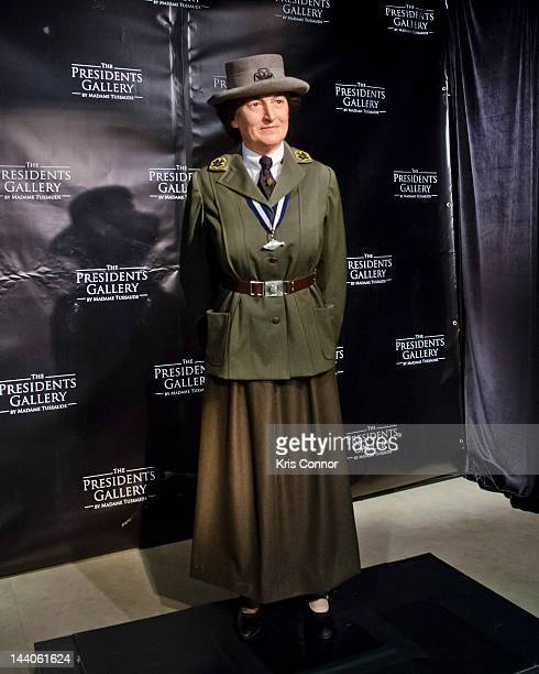 A wax Figure of Juliette Gordon Low is unveiled in celebration of the Girl Scouts 100th anniversary at Madame Tussauds on May 9 2012 in Washington DC