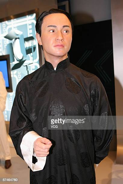A wax figure of late actor Leslie Cheung is displayed April 27 2006 at Madame Tussauds Shanghai inside the New World Department Store in Shanghai...