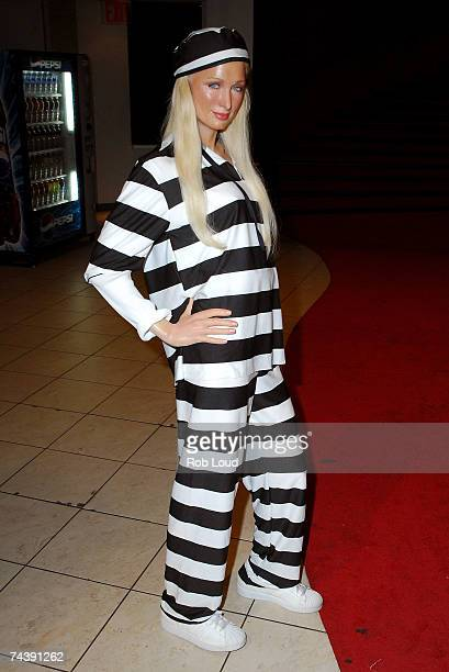 A wax figure of Paris Hilton is seen at Madame Tusssauds June 4 2007 in New York City The figure has been updated to reflect her sentence of 45 days...
