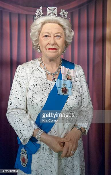 Wax figure of Queen Elizabeth II is unveiled at Madame Tussauds Washington DC on May 5, 2015 in Washington DC.