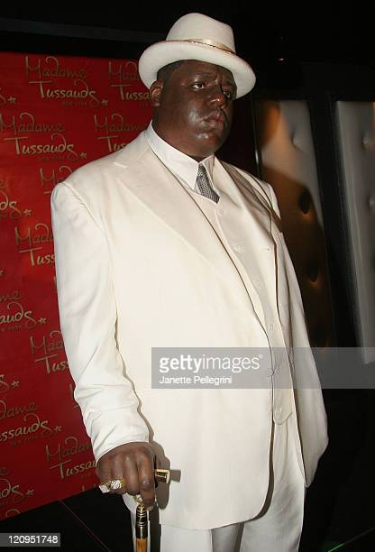 Wax figure of rapper Biggie Smalls at the unveiling of the Notorious BIG Wax Figure at Madame Tussauds October 25 2007 in New York City