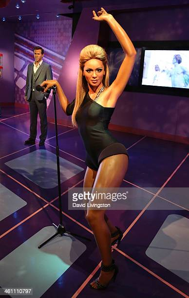 A wax figure of singer Beyonce Knowles is displayed at Madame Tussauds on January 6 2014 in Hollywood California