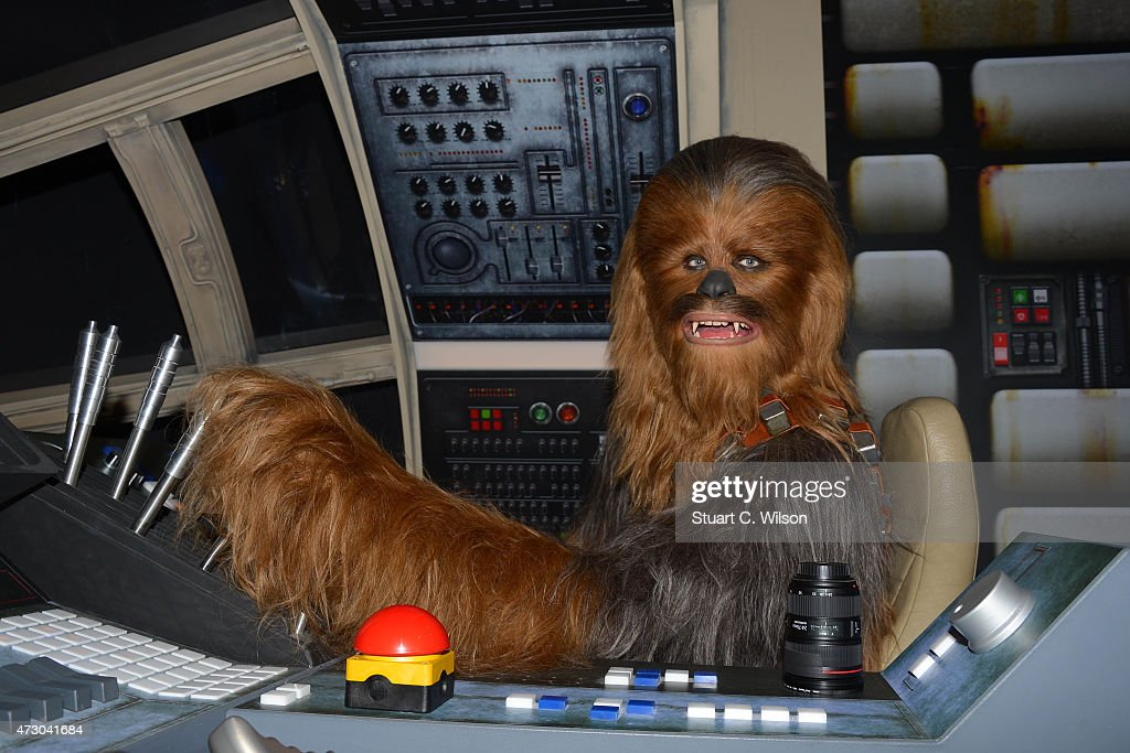 A wax figure of Star Wars character Chewbacca on display at 'Star Wars At Madame Tussauds' on May 12, 2015 in London, England.