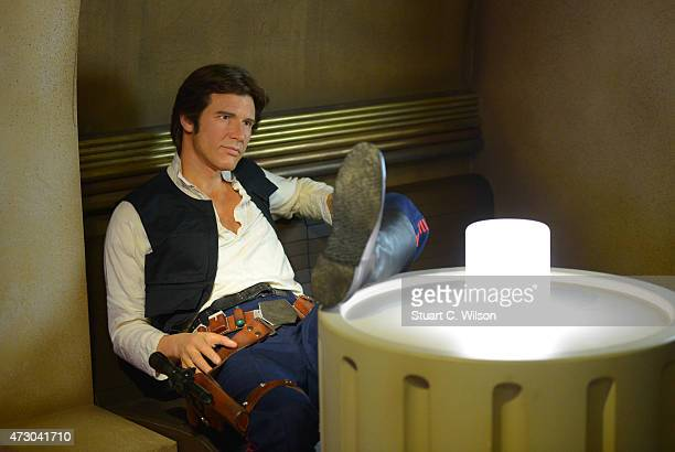 Wax figure of Star Wars character Han Solo on display at 'Star Wars At Madame Tussauds' on May 12, 2015 in London, England.