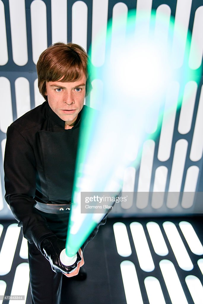 A wax figure of the actor Mark Hamill as the Star Wars character Luke Skywalker is displayed on the occasion of Madame Tussauds Berlin Presents New Star Wars Wax Figures at Madame Tussauds on May 8, 2015 in Berlin, Germany.