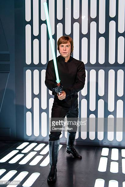 Wax figure of the actor Mark Hamill as the Star Wars character Luke Skywalker is displayed on the occasion of Madame Tussauds Berlin Presents New...