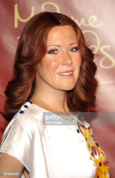 Wax figure of the member AnniFrid Lyngstad of the Swedish pop group ABBA stands at Madame Tussauds wax museum on April 20 2013 in Berlin Germany
