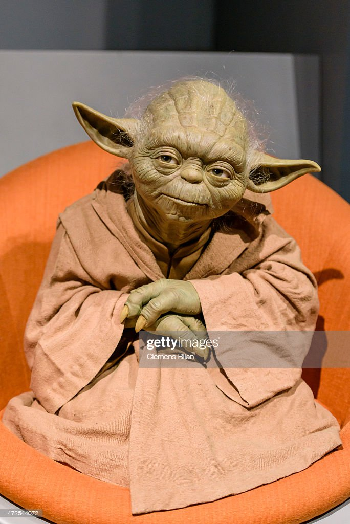A wax figure of the Star Wars character Yoda is displayed on the occasion of Madame Tussauds Berlin Presents New Star Wars Wax Figures at Madame Tussauds on May 8, 2015 in Berlin, Germany.