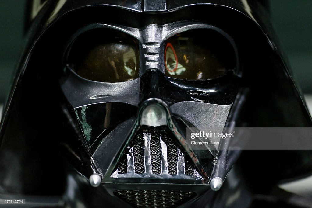 A wax figure of the Star Wars characters Darth Vader is displayed on the occasion of Madame Tussauds Berlin Presents New Star Wars Wax Figures at Madame Tussauds on May 8, 2015 in Berlin, Germany.