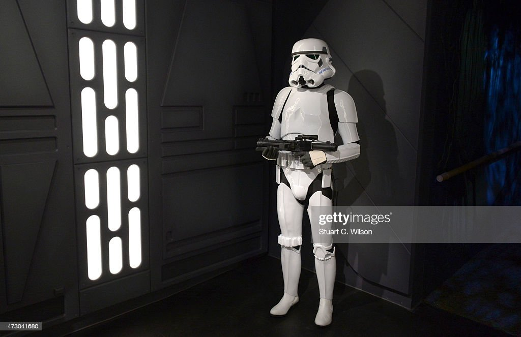 A wax figure of the Star Wars Stormtrooper on display at 'Star Wars At Madame Tussauds' on May 12, 2015 in London, England.