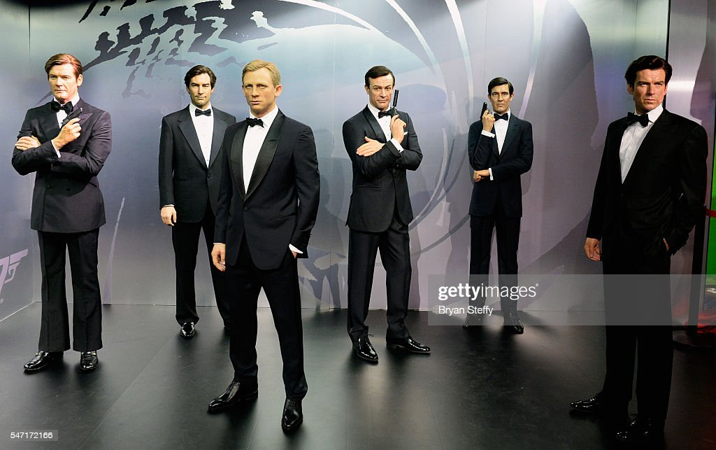 Wax Figures Of All Six Actors Who Played The Character James
