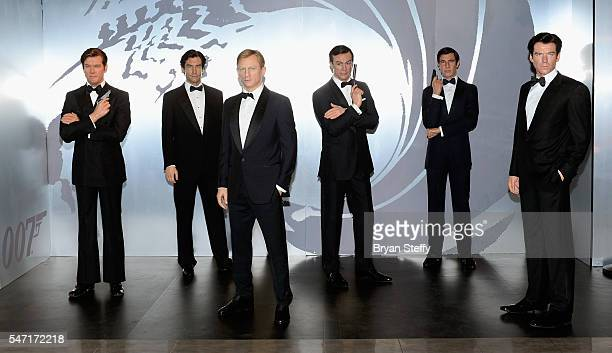 Wax figures of all six actors who played the character James Bond, Roger Moore, Timothy Dalton, Daniel Craig, Sir Sean Connery, George Lazenby and...