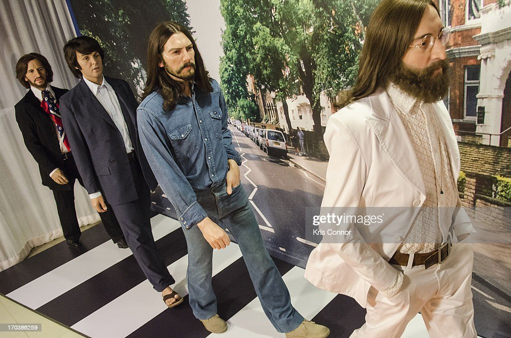 Wax Figures Of The Bealtes Members Ringo Starr Paul McCartney George Harrison