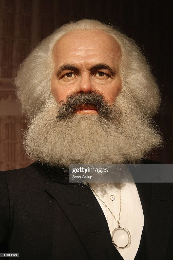 Karl Marx Wax Figure at Madame Tussauds : News Photo