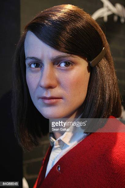 A wax firgure of German student and antiNazi activist Sophie Scholl stands on display at Madame Tussauds on December 19 2008 in Berlin Germany Scholl...