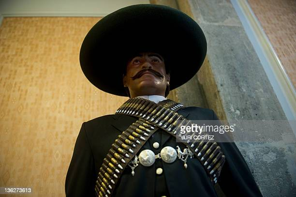Wax image of Mexican revolutionary leader Emiliano Zapata exposed at the Wax Museum in Mexico City on December 30 2011 The Wax Museum in Mexico...