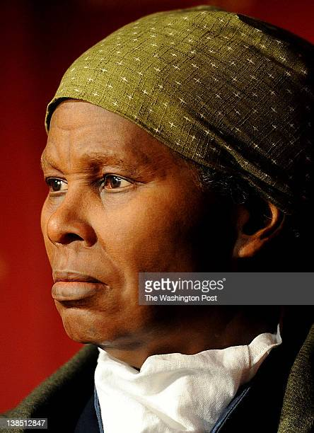 A wax likeness of the renowned abolitionist and conductor of the Underground Railroad Harriet Tubman is unveiled at Madame Tussauds on Tuesday...