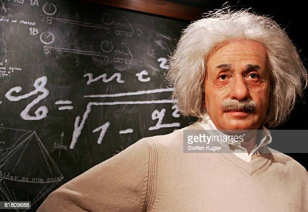 Wax model of Albert Einstein is displayed in the Berlin Branch of Madame Tussauds on July 3, in Berlin, Germany. The famous Madame Tussauds wax...