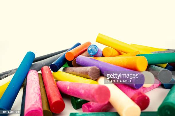 wax pastels - bright colour stock pictures, royalty-free photos & images