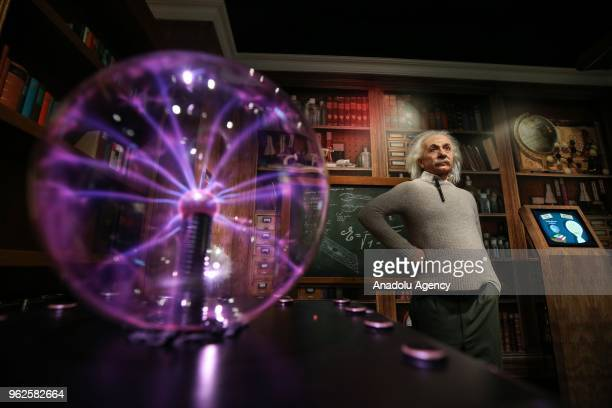 A wax sculpture of famous scientist Albert Einstein is displayed at Madame Tussauds Wax Sculpture Museum at Grand Pera in Istanbul Turkey on May 26...